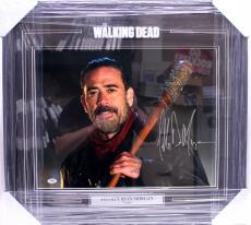 Jeffrey Dean Morgan Signed Autographed 16x20 Photo Framed Negan Psa/dna A0c67769