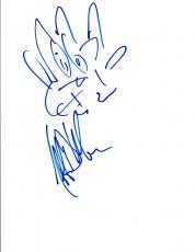 Jeffrey Dean Morgan Signed Autographed Hand Drawn Sketch The Walking Dead COA VD