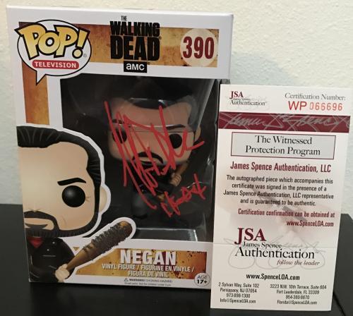 Jeffrey Dean Morgan Signed   Autographed Negan Funko Pop Toy Doll Figurine - JSA Certified