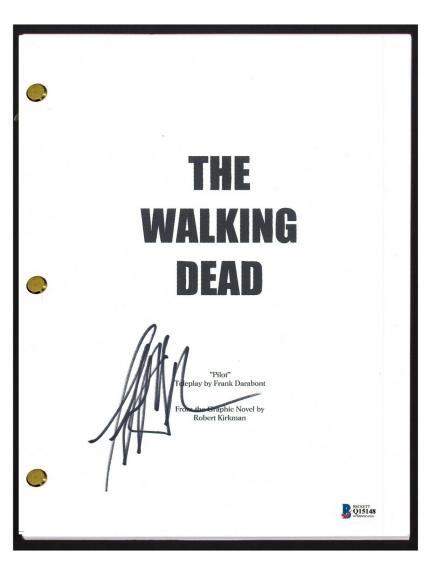 Jeffrey Dean Morgan Signed Autographed THE WALKING DEAD Pilot Script Beckett COA