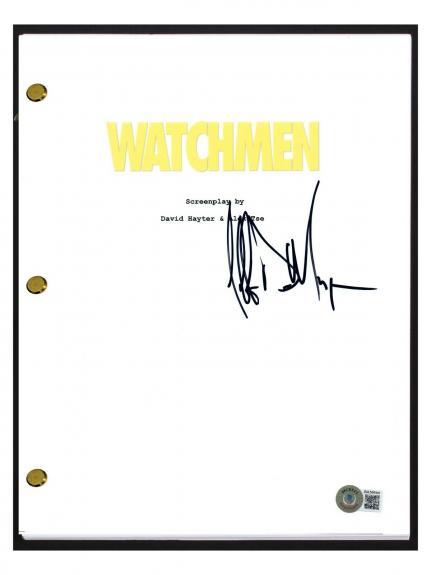 Jeffrey Dean Morgan Signed Autographed Watchmen Movie Script Beckett BAS COA