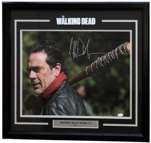 Jeffrey Dean Morgan Signed & Framed Walking Dead Negan Look Back 16x20 Photo JSA