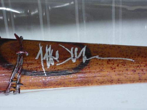 Jeffrey Dean Morgan Signed Mcfarlane Walking Dead Lucille Bloody Bat Jsa