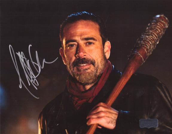 Jeffrey Dean Morgan Signed The Walking Dead 8×10 Photo – Black Bat