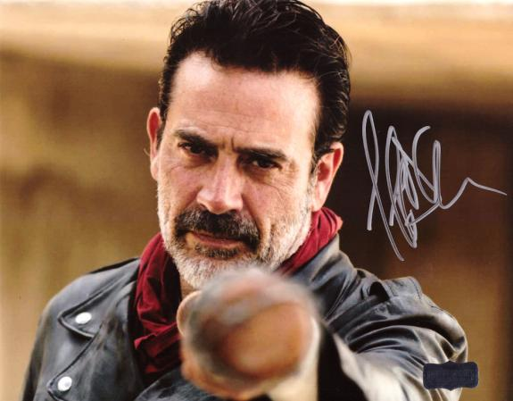 "Jeffrey Dean Morgan Signed The Walking Dead Framed 8×10 Photo Silhouette With ""Negan"" Inscription"