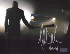 "Jeffrey Dean Morgan Signed The Walking Dead 8x10 Photo Silhouette with ""Negan"" Inscription"