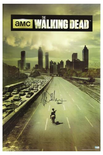 "Jeffrey Dean Morgan Signed The Walking Dead Full Size Season One Poster with ""Negan"" Inscription"