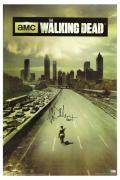 "Jeffrey Dean Morgan Signed The Walking Dead Full Size Season One Poster with ""Negan"" Inscription"
