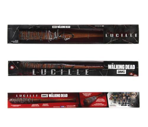 "Jeffrey Dean Morgan Signed The Walking Dead McFarlane Toys Lucille Boxed Bat with ""Negan"" Inscription"