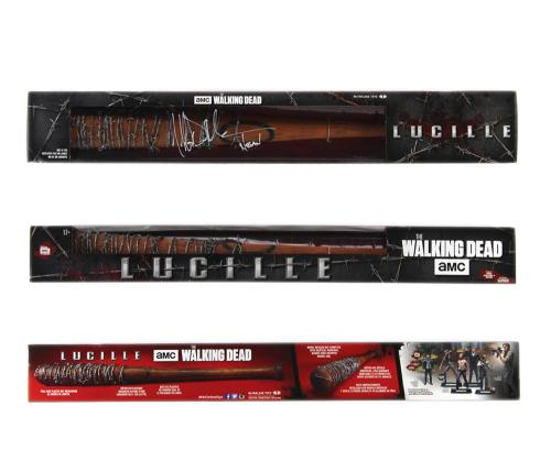 "Jeffrey Dean Morgan Signed The Walking Dead - McFarlane Toys - Lucille Boxed Bat with ""Negan"" Inscription"