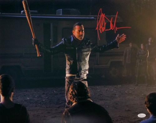 Jeffrey Dean Morgan Signed The Walking Dead Negan 16x20 Open Arms Photo JSA