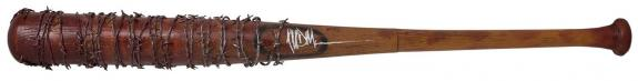 Jeffrey Dean Morgan Signed Walking Dead Lucille Bloody Prop Baseball Bat BAS