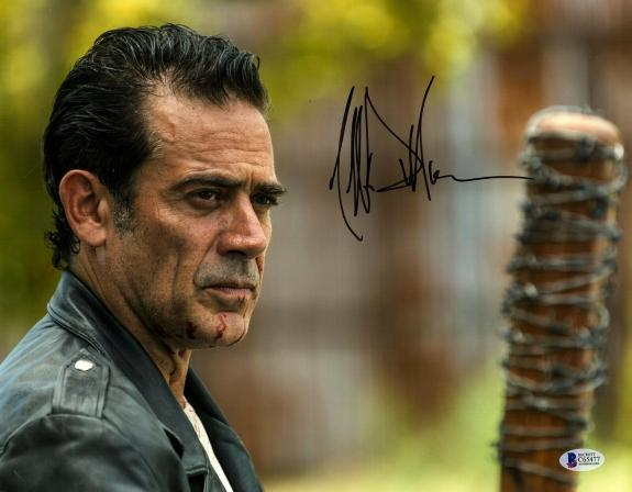 "JEFFREY DEAN MORGAN Signed Walking Dead ""NEGAN"" 11x14 Photo BECKETT BAS #C65477"