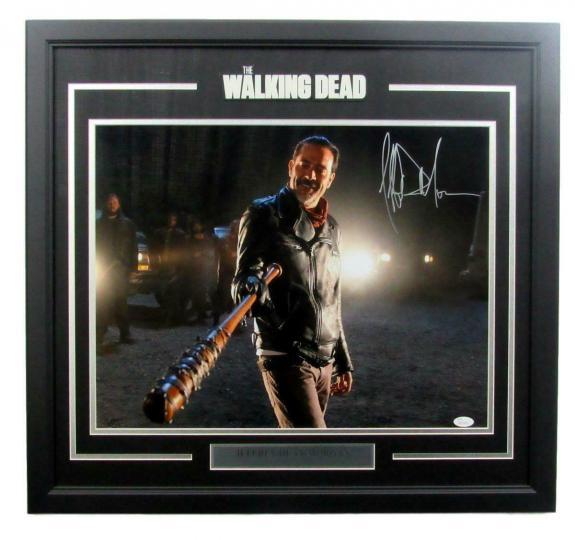 Jeffrey Dean Morgan The Walking Dead Auto/Signed Framed 16x20 Photo JSA 135350