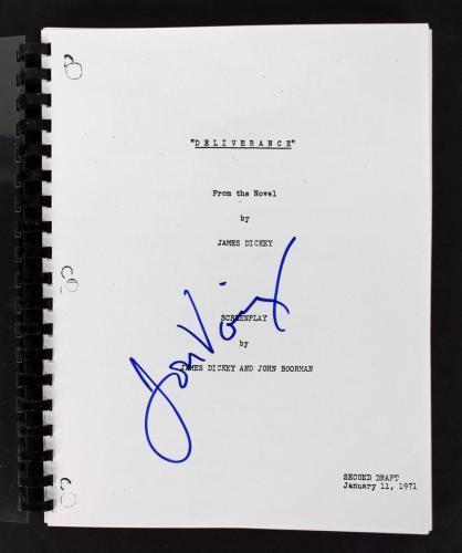 Jon Voight Signed Deliverance Movie Script Autographed BAS #C54195