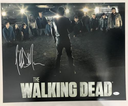 Jeffrey Dean Morgan Walking Dead Autographed/Signed 16x20 Photo JSA