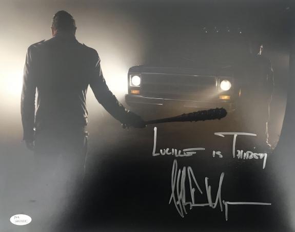 Jeffrey Dean Morgan Walking Dead Signed 11x14 Photo JSA 131364