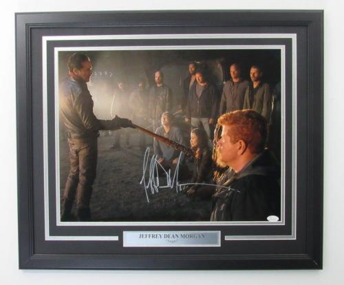 Jeffrey Dean Morgan Walking Dead Signed Framed 16x20 Color Photo JSA 139960