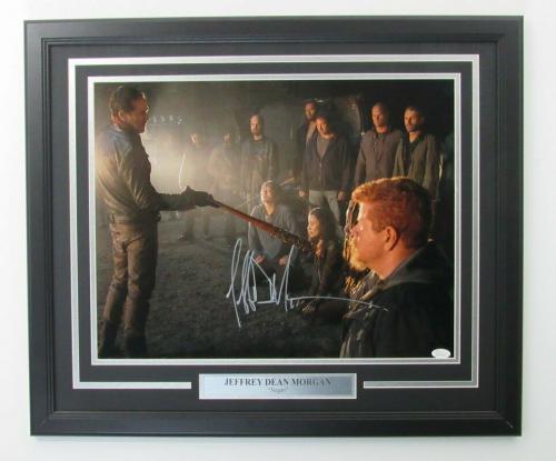 Jeffrey Dean Morgan Walking Dead Signed Framed 16x20 Color Photo JSA 139960