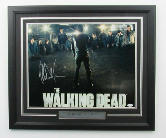 Jeffrey Dean Morgan Walking Dead Signed Framed 16x20 Color Photo JSA 139961