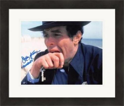 Jeffrey Kramer autographed 8x10 photo (Jaws Deputy Hendricks) #SC1 Matted & Framed
