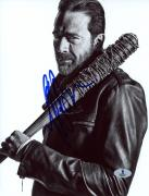 "Jeffrey Morgan Autographed 8"" x 10"" The Walking Dead Black & White Photograph - Beckett COA"