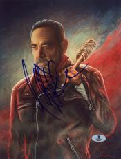 "Jeffrey Morgan Autographed 8"" x 10"" The Walking Dead Comic Photograph - Beckett COA"