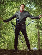 "Jeffrey Morgan Autographed 8"" x 10"" The Walking Dead In Woods Photograph - Beckett COA"