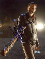 "Jeffrey Morgan Autographed 8"" x 10"" The Walking Dead Lucille Photograph - Beckett COA"