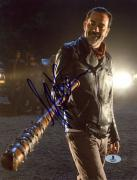 "Jeffrey Morgan Autographed 8"" x 10"" The Walking Dead Lucille Photograph - Beckett COA"