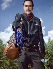 "Jeffrey Morgan Autographed 8"" x 10"" The Walking Dead Pointing Bat Photograph - Beckett COA"