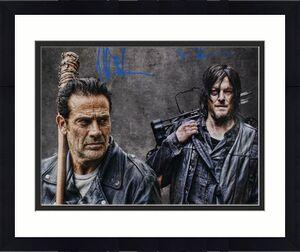 Jeffrey Morgan & Norman Reedus Autographed Walking Dead 16x20 Photo JSA 22257