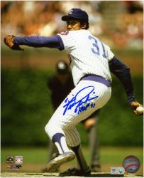 Fergie Jenkins Chicago Cubs Autographed 8'' x 10'' Pitching Photograph with HOF 91 Inscription - Mounted Memories