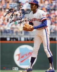 Fergie Jenkins Autographed Texas Rangers 8x10 Photo - Multiple Inscriptions