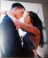 Jenna Dewan Channing Tatum Autograph Signed Kiss Photo