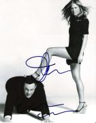 "JENNIFER ANISTON and VINCE VAUGHN Signed 8x10 B/W Photo (JENNIFER Starred in ""FRIENDS"" and VINCE Gained Fame In the ""WEDDING CRASHERS"" & ""FRED CLAUS"