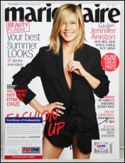 Jennifer Aniston Autographed Signed Magazine Marie Claire Friends Psa Coa