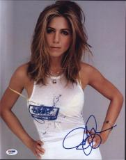 Jennifer Aniston Sexy Autographed 11x14 Photo Psa/dna  Q31347 Signed