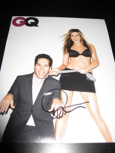 JENNIFER ANISTON SIGNED AUTOGRAPH 8x10 PHOTO GQ PROMO SEXY BABE IN PERSON COA H