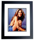 Jennifer Aniston Signed - Autographed Sexy Friends Actress 8x10 inch Photo - BLACK CUSTOM FRAME - Guaranteed to pass PSA or JSA
