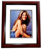 Jennifer Aniston Signed - Autographed Sexy Friends Actress 8x10 inch Photo - MAHOGANY CUSTOM FRAME - Guaranteed to pass PSA or JSA