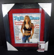 Jennifer Anniston Signed Rolling Stone Cover JSA Auto Framed & Matted