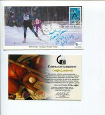 Jennifer Don US Chinese Taipei Figure Skater Signed Autograph FDC COA