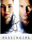 Jennifer Lawrence and Chris Pratt Signed - Autographed Passengers 8x10 inch Photo - Guaranteed to pass PSA/DNA or JSA