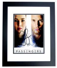 Jennifer Lawrence and Chris Pratt Signed - Autographed Passengers 8x10 inch Photo - BLACK CUSTOM FRAME - Guaranteed to pass PSA or JSA