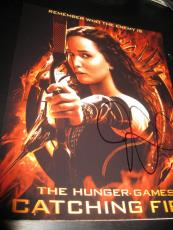 JENNIFER LAWRENCE SIGNED AUTOGRAPH 8x10 HUNGER GAMES CATCHING FIRE PROMO PROOF G