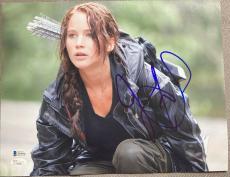 Jennifer Lawrence Signed Autograph Classic Hunger Games 11x14 Photo Jsa L74065