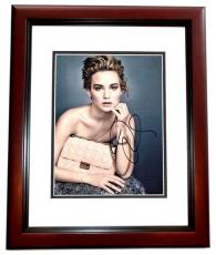 Jennifer Lawrence Signed - Autographed 11x14 inch Photo MAHOGANY CUSTOM FRAME - Guaranteed to pass PSA or JSA - Hunger Games Actress