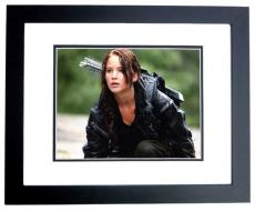 Jennifer Lawrence Signed - Autographed Hunger Games 11x14 inch Photo BLACK CUSTOM FRAME - Guaranteed to pass PSA or JSA - Katniss Everdeen