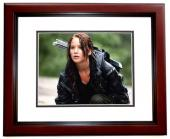 Jennifer Lawrence Signed - Autographed Hunger Games 11x14 inch Photo MAHOGANY CUSTOM FRAME - Guaranteed to pass PSA or JSA - Katniss Everdeen